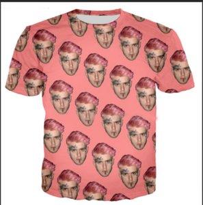 Más reciente Novedad Streetwear Hombres Mujer Estilo de Verano Lil Peep Divertido Impresión 3D Casual O-cuello Camiseta Tops Más Tamaño WR0233
