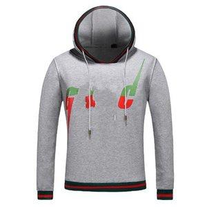 2019 lässige mode herbst designer luxus italien herren rot gren streifen klassische große farben buchstaben drucken hoodies pullover kapuzenpullover