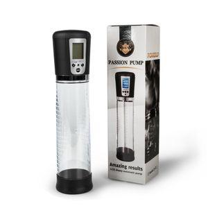 Pompa Display LCD elettronico pompa del pene maschile Vibratore Pompa per vuoto ingrandimento del pene Enlarger Extender automatica