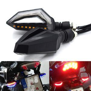 Para universal motocicleta sinal de volta pisca-pisca LED piscando luzes led piscas para BMW Buell Ducati hyosung honda kawasaki KTM