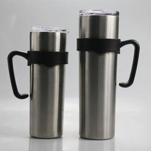 NEW 20온스 30온스 마른 텀블러 블랙 플라스틱 홀더를 처리 20온스 30온스 마른 텀블러 커피 잔의 물 병 휴대용 핸들