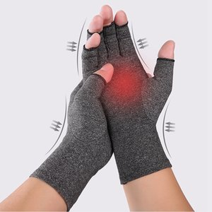 Перчатки Артрит Compression перчатка Magnetic против артрита здоровья Терапии Ревматоидной Руки боль Поддержка запястья Спорт Безопасность перчатка LJJA3458-6