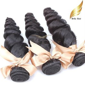 Brazilian Hair Bundles Remy Human Hair Wefts Loose Wave Hair Weave 10-34 Inch Grade 9A 3pcs lot Natural Color Bellahair In Bulk