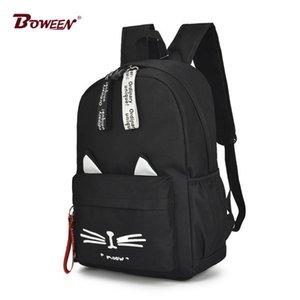 Случайный мультфильм девушка рюкзак школьный рюкзак для девочек-подростков рюкзак нейлон твердый школьный рюкзак famale teen bagpack 2018 новый горячий Y190601