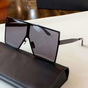 Moda Betty óculos de sol cinza de prata Oversize Sunglasses 182 gafa de sol Sonnenbrille Designer Luxury Sunglasses Óculos novos com caixa