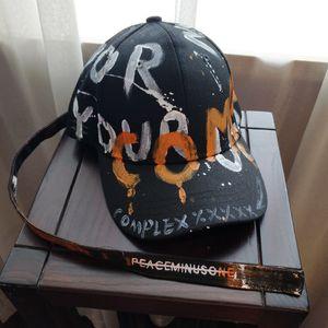 Vente en gros lettres hip hop street graffiti ceinture casquette de baseball corniche GD courbe hommes hip hop chapeau et les femmes lettre capitale graffiti pare-soleil