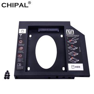 Oficina equipo Chipal SATA a SATA HDD Caddy segundo plástico de 9,5 mm Para SSD caso de HDD unidad de disco duro Para el recinto Bay