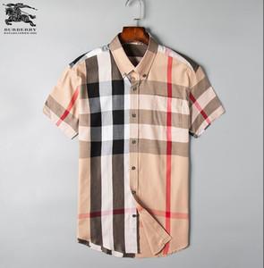 Manga larga para hombre de Oxford de algodón puro formal Alto grado de tela escocesa camisas de manga larga de la camisa de los hombres de negocios Slim Fit Casual Top # 8822