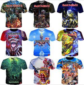 Sommer-T-Shirt Iron Maiden Männer Kurzärmeliges Eddie T Jubel Fans 3D-Druck-T-Shirts Männer Frauen Paare T-Shirt S-5XL