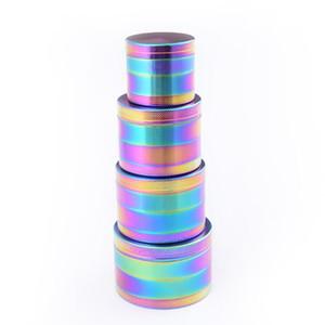 Grinder de arco iris 4 capas 40 mm 50 mm 63 mm aleación de zinc Tabaco Humo trituradora trituradora de humo accesorios para fumar OOA7072