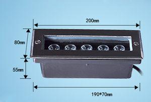 (3pcs / lot) L200 * W80 * H60MM 사각형 4 * 1W 주도 Led 가든 라이트 IP67 AC100V-240V 야외 계단 빛 Terraza