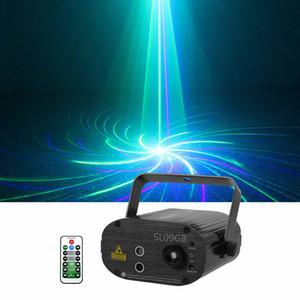 Sharelife Mini 9 Mavi Yeşil Gobos Mavi LED DJ Lazer Işık Uzaktan Kumanda Hız Gig Ev Partisi göster Sahne Aydınlatma SL09GB Karışık