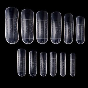 120pcs Nail Art Quick Building Poly Gel Плесень Форма Finger Extension UV Polygel Builder Советы Клип DIY Маникюр