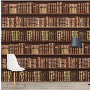 wallpaper for walls 3 d for living room Retro european book wallpapers background wall