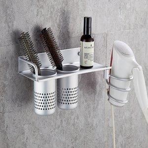 Espaço de alumínio Banho Organizer Titular Combs Toalha Escova Duche Hanger Shelf Kit Set secador de cabelo Armazenamento Bandejas Prateleiras CX200704