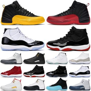 nike air jordan retro basketball Chaussures de basket-ball pour hommes 12 12s Dark Grey Flu game Royal The Master 11 11s Bred Concord Space jam hommes femmes baskets de sport