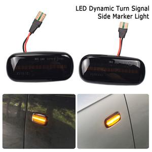 2pcs marcador llevado lateral dinámico señal de vuelta secuencial Luz intermitente de la lámpara para Audi A3 S3 8P A4 B6 B7 B8 S4 RS4 A6