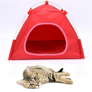 Cat Bed Tent Hammock Hanging Bed Tent Shelter Shape Breathable Cat House Linen Sponge Tent Hanging Cage Cover Pet Supplies
