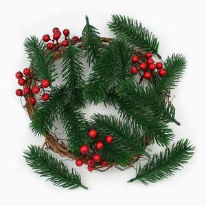10pieces artificial de pino Agujas plantas falsas ramas artificiales Flores para Navidad decoración para el hogar del árbol de Navidad DIY Accesorios