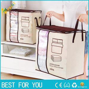 2018 New Non-tecled Portable Clothes Storage Organizer 45.5 * 51 * 29cm Folding Closet Organizer For Pillow Colt Blanket Bedding