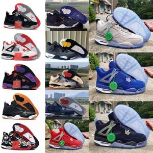 2020 Bred Black Retro Cat NakeskinJordan 4 4s basketball shoes men mens white designer sneakers IV Pure money trainers aj 1 with bHbHy#