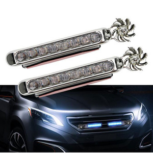 Carro Styy Light Daytime Running Lights 8 LED DRL Wind Energy Energy Power Fonte Auto Luz de Nevoeiro Farol