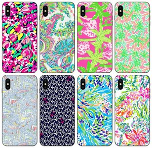 [TongTrade] Sea Lilly Pulitzer-Kasten für iPhone 12 11 Pro X XS Max XR 8 7 6s Plus-Fall-Galaxie S8 S6 S7 S8 S9 Honor 7A Xiaomi 8 9 Pro Mode