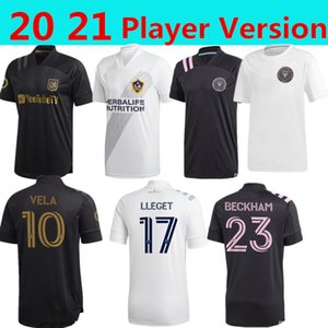 2021 Player versão Shirts LAFC Carlos Vela de Futebol Los Angeles FC LA Galaxy Chicharito Inter Miami Beckham Preto United Football