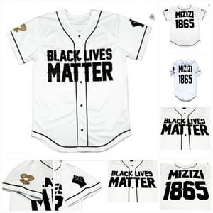 Hommes Femmes Youth Mizizi 1865 Edition spéciale Black Lives Nombre de choses de baseball Jersey Blanc Couleur rapide Expédition rapide