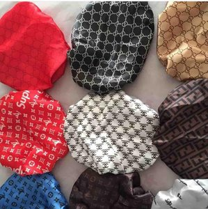 Durag Muslim Women Stretch Sleep Turban Hat Scarf Silky Bonnet Chemo Beanies Caps Cancer Headwear Head Wrap Hair designer hats caps men