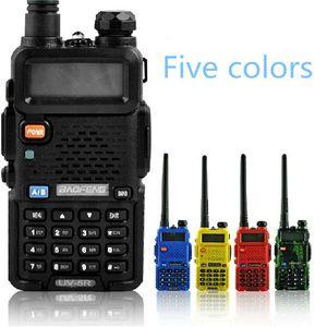 BaoFeng UV5R UV5R walkie talkie de doble banda de 136-174MHz 400-520Mhz radio de dos vías con el transmisor-receptor de la batería 1800mAH auricular libre