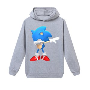 2020 NEW Sonic Kids Hoodies Pattern Printing Hooded Sweatshirt Casual Fashion Streetwear Pullover Hoodies Tops Clothes Clothing