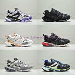 2019 جديد 3M Triple S Track 3.0 Running Shoes Release 3 Tess Gomma Maille Jogging Designer Shoes Sport Sneaker 35-45