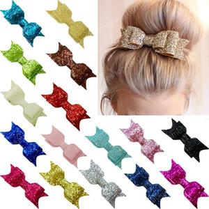 Les filles Sequin Big Bow Barrettes Mode enfants Femmes Glitter Bow cheveux clip Brillant Barrettes Coiffe