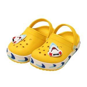 Cute Girls Shoes Summer Croc Slippers 2019 Baby Boys Kids Beach Shoes Cartoon Children Sandals Hole Girl Clogs Garden Shoes T200701