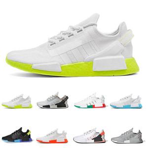 Adidas 2020 cidade Moda NMD R1 México tênis para homens, mulheres aquático tons de vermelho e azul brilhante volts Sports Sneakers Tamanho 36-45