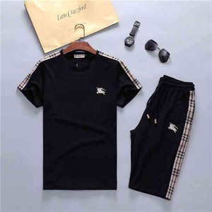 Brand New Tracksuit Jackets Set Fashion Running Mens Sports Short sleeve Suit Letter Slim Clothing Track Kit Medusa Sportswear
