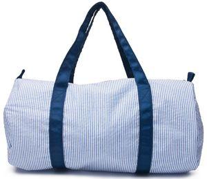 18*9*9.5 Inch Personalize Seersucker Duffle Bag Wholesale Blanks Kids Barrel Bag Preppy Children's Travel Bag
