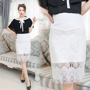 2019 Summer Maternity Skirt Lace Bottom Clothes for Pregnant Women Pregnancy Korean Dress Skirts & Skorts Baby & Kids ClothingEVl1#