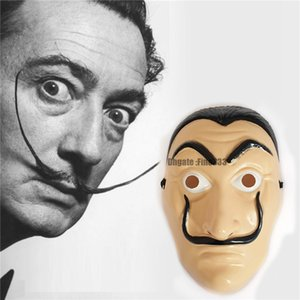 Cosplay Party Mask La Casa De Papel Maschera Maschera Salvador Dali costume film realistico Halloween XMAS Forniture HH7-929