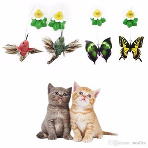 B Electric Rotating 360 Pet Cat Toys For Cats Toy Colorful Butterfly Bird Seat Scratch Funny Pet Toys For Cat Kitten intelligence