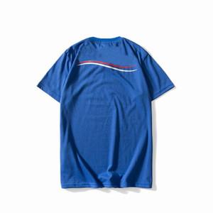 Dalga Çizgili Baskı Erkek Tasarım Tişörtler Streetwear Aşıklar Yaz Mürettebat Boyun Tshirts Ünlü Gençler Kısa Kollu T-Shirts