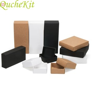 10pcs Large Kraft Paper Box With Lid Handmade Soap Boxes Brown Paper Gift Box Candy Cookies Cake Boxes Packaging Jewelry
