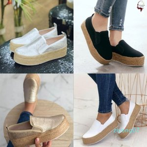 New Spring Women Flats Shoes Platform Sneakers Slip on Flats Ladies Canvas Shoes Casual Zapatos De Mujer Ladies z07