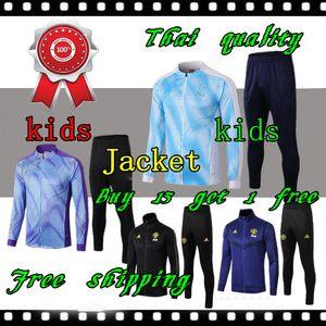 2019 2020 Real Madrid KIDS BOYS futbol çocuk 19 20 Real Madrid çocuklar futbol eğitimi chándal futbol eşofman Çocuk ÇOCUKLAR takım elbise ceket