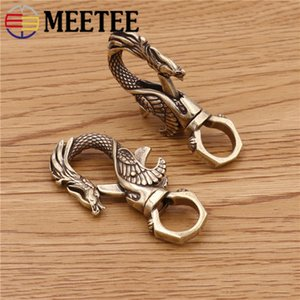 Meetee 57 * 12/55 * 12mm Vintage Hand Reiner Messing Drachen Typ Schlüssel O Ring Anhänger Schnalle DIY Kreative Tasche Kleidung Dekoration