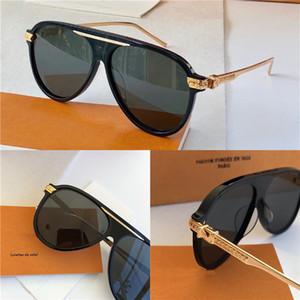 Новый модный дизайнер мужские солнцезащитные очки 1264 пилотная пластина рамка металлические ножки наружная защита Авангард популярные декоративные очки высокое качество