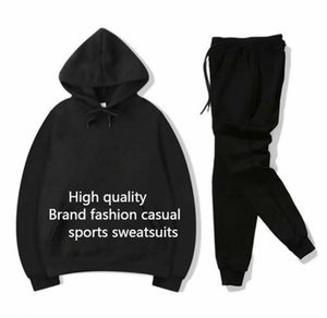 Brand mens Sweat Suit Casual Fashion spring Autumn Long Sleeved Two-piece Jogger Set Ladies Fall Tracksuit sport Jogging Hoodies+pants