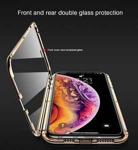 New upgraded second-generation double-sided magnetic king for Apple mobile phone magnetic glass phone case double-sided glass anti-drop mobi