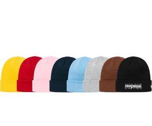 Новый 19fw роскошный Европейский логотип вышитая холодная шапка вязаная шапка мужская и женская пара дизайнер высокое качество цветов шляпа
